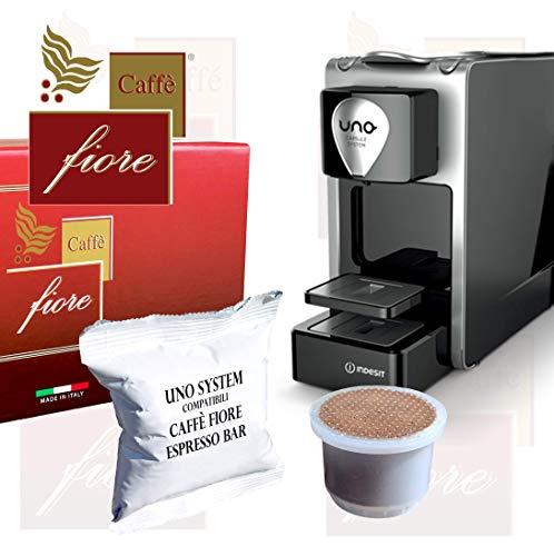 25 Cialde Capsule Compatibili UNO SYSTEM CAFFÈ FIORE Espresso BAR miscela Intensa