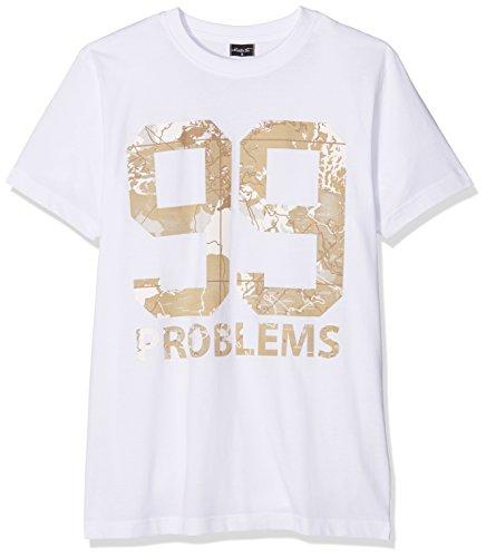 Mister Tee Herren 99 Problems Desert Camo T-Shirts, White, XXL (T-shirt Camo Desert Herren)