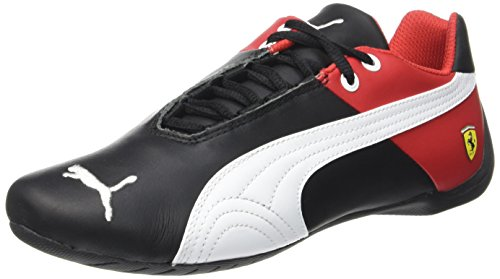 Puma Future Cat SF OG 305822 01 Herrenschuhe Leder Ferrari Sneaker, Schwarz (Blk/Wht/Red 01BLK/Wht/Red 01), 41 EU (7.5 UK) (Future Cat Puma)