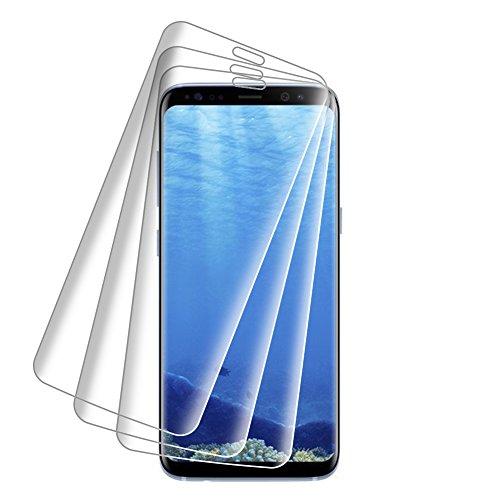[3 Stück]Samsung Galaxy S8 Schutzfolie,VicTora Samsung Galaxy S8 Panzerglas,9H Härte Super Langlebig, Anti-Öl,Panzerglasfolie Displayschutzfolie für Samsung Galaxy S8 Panzerglas - 5,8 Zoll (14,7 cm)