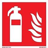 BRABESCH Aufkleber Brandschutzzeichen Feuerlöscher 100x100 ISO 7010 Folie