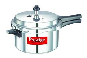 Prestige Popular Aluminium Pressure Cooker, 4 Litres, Silver