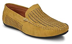 Andrew Scott Mens Tan Synthetic Leather Loafers - 1061Tan_8