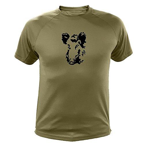 Jagd geschenke Wildschwein einzeln Jäger T shirt (20184, Grun, XL)