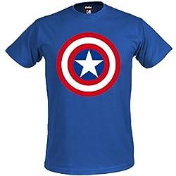 Los Vengadores, la Era de Ultron camiseta escudo Capitán América superhéroes Marvel Shirt royal color azul producto oficial - XXXL