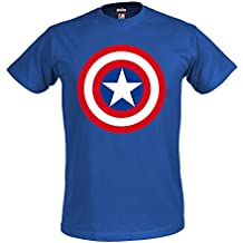 Los Vengadores, la Era de Ultron camiseta escudo Capitán América superhéroes Marvel Shirt royal color azul producto oficial - S