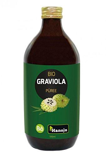 Bio Graviola (Guanábana) Püree 500 ml Glasflasche - Direktpüree aus kontrolliert biologischem Anbau 100% natürlich