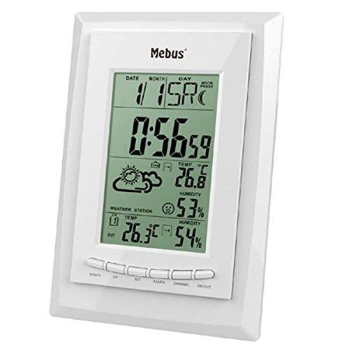 Mebus 40424weiß Digitale Wetterstation-WETTERSTATIONEN Digitale (weiß, 125mm, 25mm, 200mm)