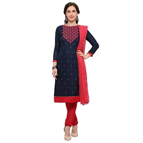 Globalia Creation Women\'s Georgette Salwar Suit Set (Multi_Free Size)
