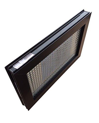 Kellerfenster braun 80 x 40 cm Isolierglas 3.3 mit Schutzgitter, montierter Insektenschutz, 4 Fensterbauschrauben