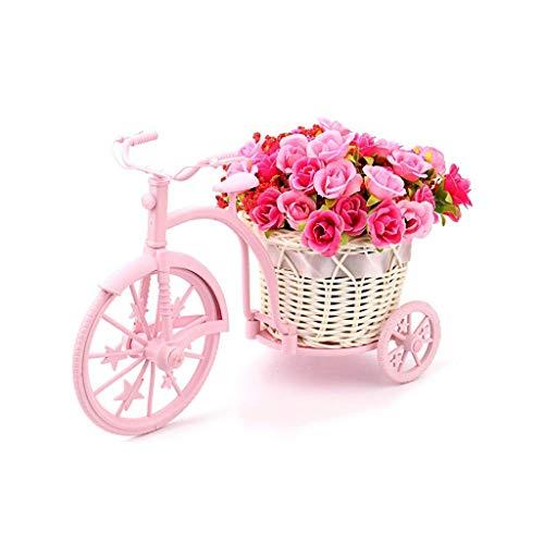 JFFFFWI Blumenständer Mini Blumenregal Fahrrad Künstliche Blume Dekor Kleine Pflanze Stehen Hochzeitsdekorationen (Farbe: Rosa, Größe: 10 stücke) (Stehen Pflanze Künstliche)
