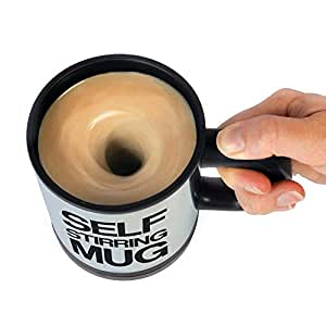 Basethings Automatic Stainless Coffee Mixing Cup Blender Self Stirring Mug Best Gift