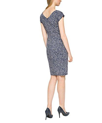 Esprit 036eo1e038 - Discret Gloss - Robe - Femme Bleu - Blau (NAVY 2 401)