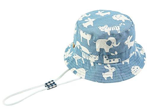 Baby Sonnenhut Kinder Hut, Sommerhut Mütze for Jungen Mädchen mit Verstellbar Kordelzug (50cm / 12-24 Monate,Elefant) (Baby-jungen-accessoires)
