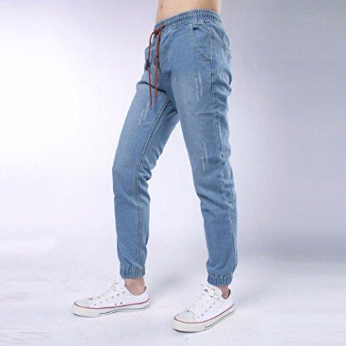 Imagen de pantalones casuales para hombre, amlaiworld pantalones vaqueros de hombres jogger pantalones deportes pantalones de chándal para hombre azul claro, xl  alternativa