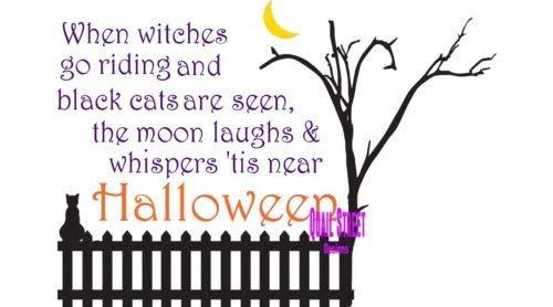 wandaufkleber sterne leuchtend Wenn Hexen reiten, werden schwarze Katzen in der Nähe von Halloween Vinyl Aufkleber gesehen (Hexen In Der Halloween)