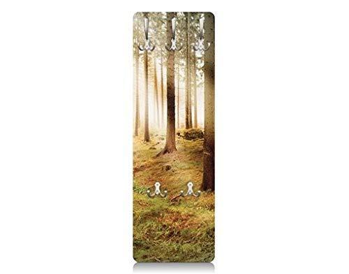 Apalis 76652 Wandgarderobe Nummer CA48 Morning Forest | Design Garderobe Garderobenpaneel Kleiderhaken Flurgarderobe Hakenleiste Holz Standgarderobe Hängegarderobe | 139x46cm