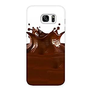 Special Chocolate Splash Brown Back Case Cover for Galaxy S7 Edge