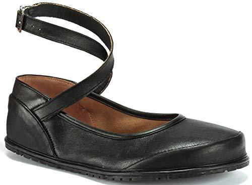Magical Shoes - Anna - Ballerinas | Barfußschuhe | Damen | Zero Drop | Flexibel | Rutschfest | Natur-Leder, Größe:39 / 250mm, Farbe:Ballerina Anna - Schwarz