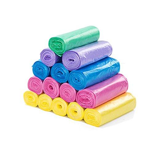 Annakideya Sacchi delle fodere del cestino 100pcs Sacchi riciclati resistenti del rifiuto per la pattumiera della stanza da bagno 9-14L della cucina