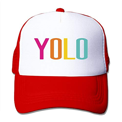deyhfef Trucker Motto You Only Live Once-YOLO Adjustable Mesh Back Baseball Cap Multicolor70 - Back Adjustable Trucker Hut