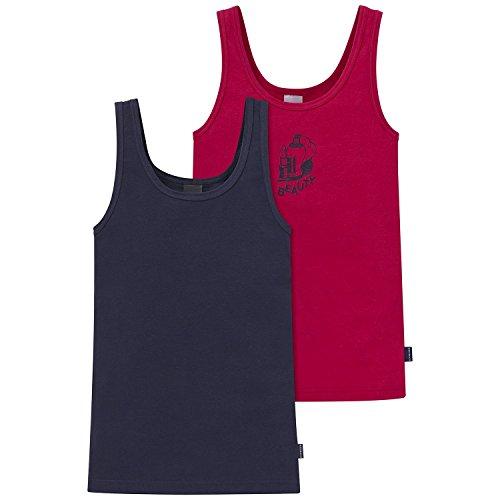 Schiesser Mädchen Unterhemd 2Pack Tops, 2er Pack, Mehrfarbig (Sortiert 1 901), 164