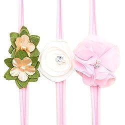 Diademas, FAMILIZO Bebé Niñas Flor Diademas Y Cintas De Pelo Accesorios De La Boda Sombreros Para Bebé (Rosa)