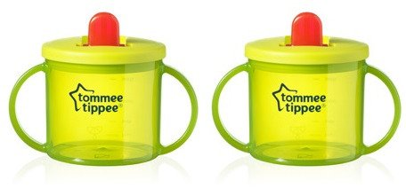 Primera taza Tommee Tippee, color verde (pack de 2)