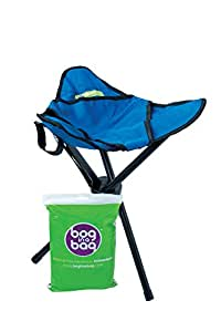 BoginaBag Foldable Portable Folding Toilet suitable for Festivals, Camping, Fishing, Hiking & Treking (Stool and Pack of 5 Bog In A Bag Refill Bags)