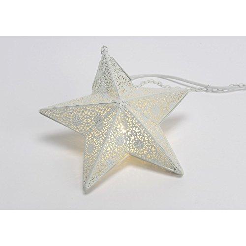 Suspension étoile blanc antique