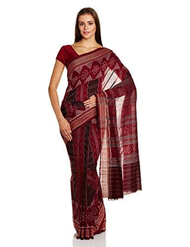 IndusDiva Multicoloured Sambalpur Ikat Cotton Handloom Saree