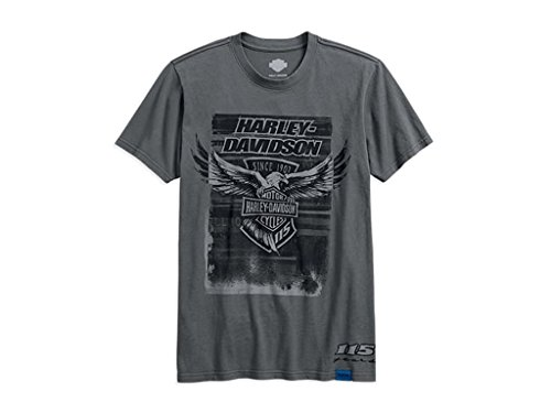 Harley-Davidson 115th Anniversary Eagle Slim Fit Tee T-Shirt, 99001-18VM, XL