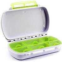 Lantelme 6747 Medikamentenbox Wasserdicht - Kunststoff Farbe weiß/grün - Tablettendose mit 6 Fächer preisvergleich bei billige-tabletten.eu