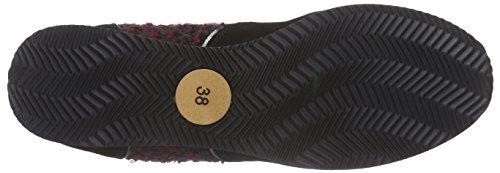Strenesse Sneaker Lou, Baskets Basses femme Multicolore - Mehrfarbig (cherry+black / 501)