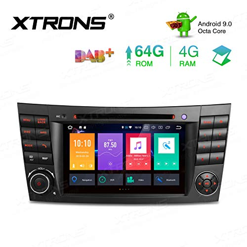 "XTRONS 7"" 4GB RAM 64GB ROM Android Autoradio mit Touchscreen Octa-Core Android 9.0 DVD Player Autostereo unterstützt 3G 4G Bluetooth DAB OBD2 CAR Auto Play TPMS FÜR Mercedes-Benz"