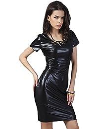 COCO clothing Kleider Damen Sommer Kleide Fashion Blusenkleider Sexy kurz  Ärmel Schlank Business Kleid Reizvolle Volltonfarbe c4162f52e3