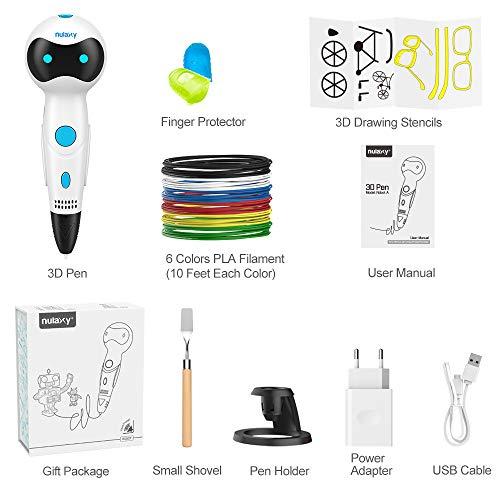 3D Stifte für Kinder, Nulaxy 3D Druckerstifte Roboter Pen mit 6 Farbe 1.75mm PLA Filament Gutes Kinderspielzeug, Geburtstags-und Weihnachtsgeschenke und praktisches Werkzeug für 3D-Drucker Besitzer (Stifte) - 7