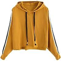 Damen Sweatshirt,Geili Damen Langarm Gestreiften Hoodie Sweatshirt mit Kapuze Pullover Tops Bluse Frauen Lose... preisvergleich bei billige-tabletten.eu