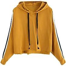 Styledress Sweatshirt Damen,Damen Langarmshirt Gestreiftes Hoodie Sweatshirt  Sweatjacke Langarm Pullover Hosenanzug T-Shirt d3eddbbcb8