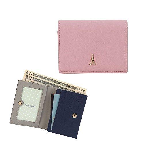 jnjstella Damen Leder Mini Brieftasche ID Münze/Kartenetui Kleine Geldbörse One Size Indisches Rosa