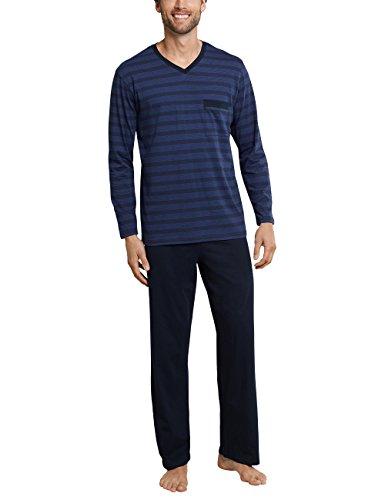 Schiesser Herren Zweiteiliger Schlafanzug Anzug Lang Blau (Royal 819), X-Large (Herstellergröße: 054)