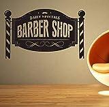 Dalxsh Friseur Aufkleber Tägliche Angebote Hacken Brot Abziehbild Haarschnitt RasiererVinylWandkunst AufkleberDekor Fenster35X58 Cm
