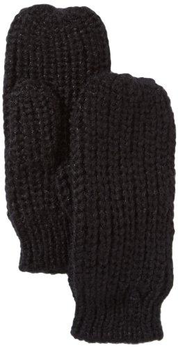 PIECES Damen Handschuh 17052243 DRIB MITTENS, Gr. 7.5, Schwarz (Black)