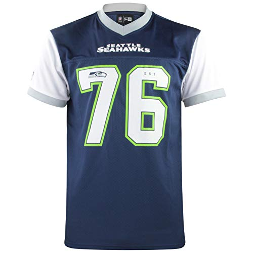 New Era NFL Tri Colour T-Shirt Supporters Collection Tee NFL Jersey Trikot Shirt American Football Streetwear Seattle Seahawks M