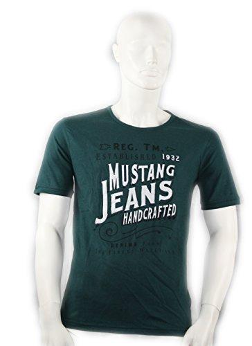 Mustang Herren T-Shirt Größe S in Grün (Grün T-shirt Mustang)