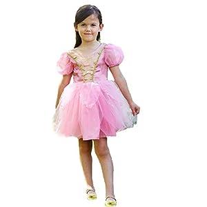 Amscan PGF3 - Vestido de hada con purpurina rosa de 3 - 5 años, para niñas, color no sólido, 3 - 5 años