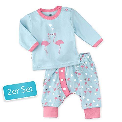 Baby Sweets Baby Set Hose + Shirt Mädchen türkis rosa   Motiv: Made with Love   Babyset mit 2 Teilen für Neugeborene & Kleinkinder   Größe: Newborn (56)... -