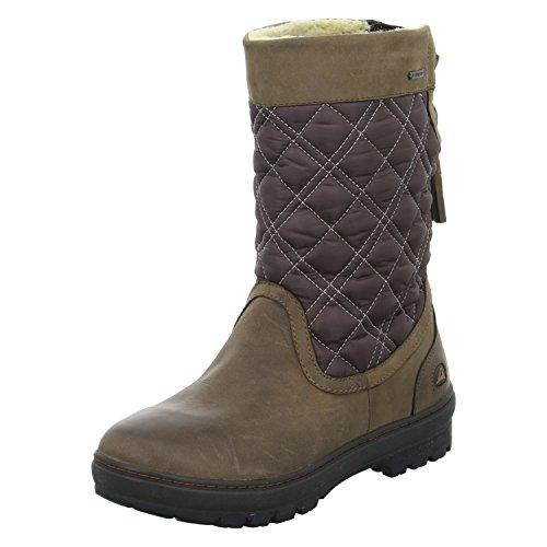 Clarks - Icey Mid Gtx, Stivali da neve Donna Braun (Ebony Leather)