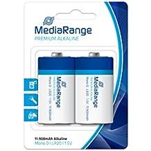 MediaRange MRBAT109 Alcalino 1.5V batería no-recargable - Pilas (Alcalino, Cilíndrico, 1,5 V, 2 pieza(s), D, 11900 mAh)
