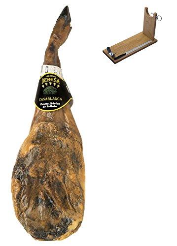 Prosciutto pata negra ibérico (spalla) di ghianda dehesa casablanca + porta prosciutto + coltello 4.5 - 5 kg | jamon iberico spagnolo